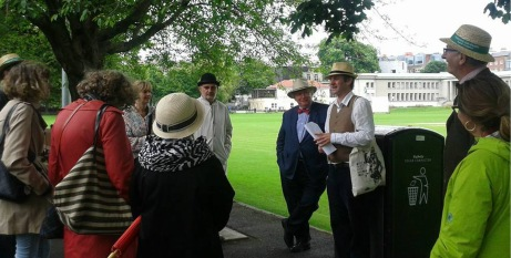 ulysses tour on bloomsday at trinity college Dublin